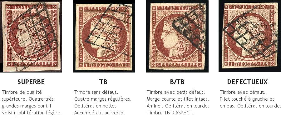 Qualités d'un timbre non-dentelé