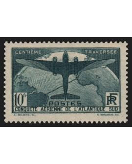 n°321, Traversée aérienne de l'Atlantique-Sud 1936, neuf ** sans charnière - TB