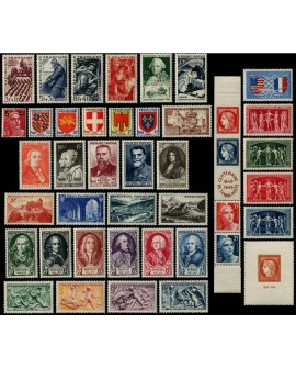 France année complète 1949, Yvert n°823/862, neufs ** sans charnière