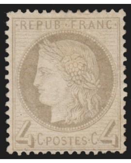 n°52, Cérès 4c gris, neuf * avec charnière - TB