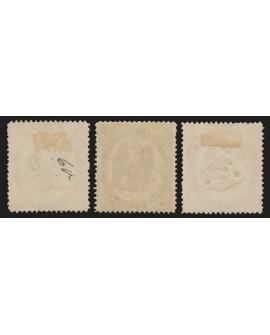 Timbres-Télégraphe 1870, 3 valeurs oblitérées càd d'Algérie - TB