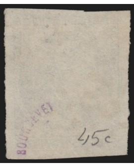 n°45C, oblitéré GC 1313 DOLE-DU-JURA, Cérès Bordeaux 20c bleu, Type II R3 - TB