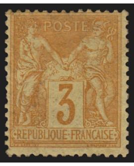 n°86, Sage 3c bistre-jaune, neuf * avec trace de charnière - TB