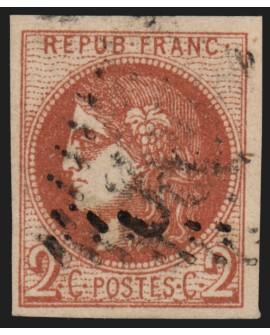 n°40B, Cérès Bordeaux, 2c brun-rouge, Report 2, oblitéré - TB