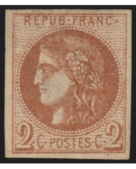 n°40B, Cérès Bordeaux, 2c brun-rouge, neuf * avec charnière - TB