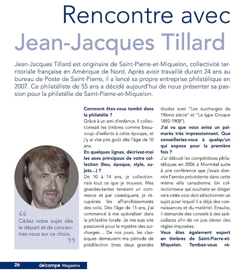 Rencontre avec philatéliste : Jean-Jacques Tillard