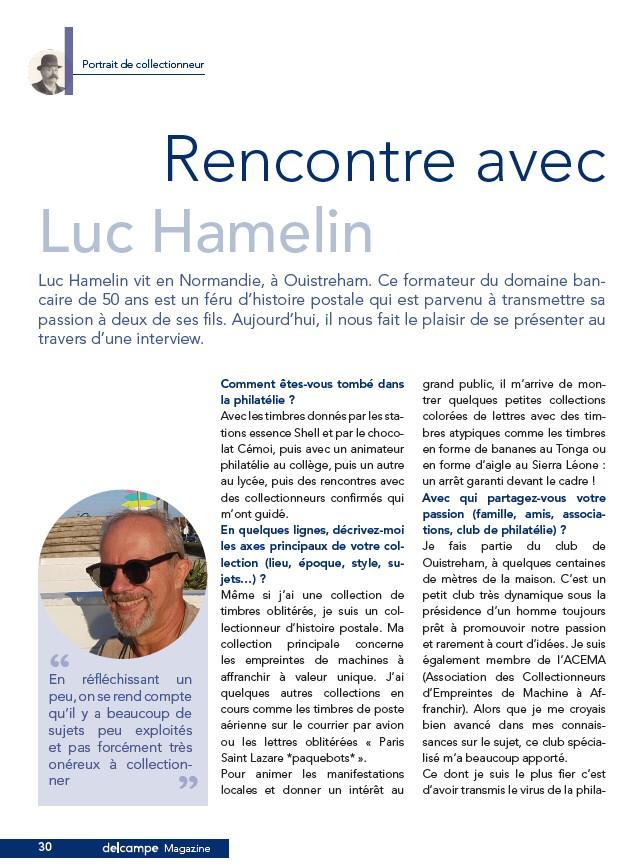 Rencontre avec un philatéliste : Luc Hamelin